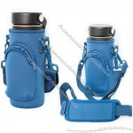 Neoprene Water Bottle Sleeve With Strap And Extra Pouch