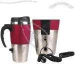 NEW 12V USB Auto Heated Travel Coffee Tea Mug/Cup