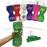 New 19 oz. Fold-Flat Reusable Sport Bottle