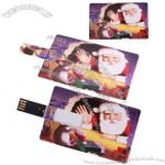 New 2GB Santa Claus Credit Card Style USB Flash Memory Drive For Christmas Gift