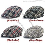New Checked Cabbie Hat Gatsby Flat Cap Ivy Irish Driving Hat Newsboy