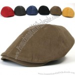 New Mens Cotton Flat Cap Cabbie Driving Hat Gatsby Ivy Irish Newsboy