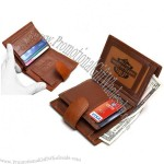 New Mens COWHIDE Leather Billfold clutch Wallet with COIN POUCH