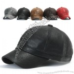 New Mens Faux Leather Ball Cap Baseball Caps Trucker Hat Visor Hats