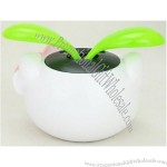New Solar Powered Gift Hello Kitty Shaped Flip Flap Dancing Leaves