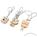 New Style Lot of 24 Forest Cartoon Wooden Animal Design Keychain