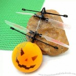 Newest Halloween Pumpkin Head Style Mini Rc Flyer Infrared Flying Saucer with Remote Control
