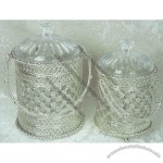 Noble Silver Ice Bucket with Lid