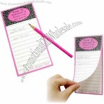 Note Pad with Magnetic Strip