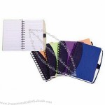 Notebook with Nonwoven Cover and Black Spiral