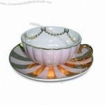 Novelty Porcelain Cup and Saucer