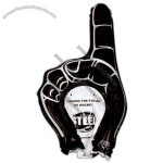 Number one shape inflatable hand.