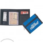 Nylon Bi-fold Wallet W/ Velcro Flap Closure