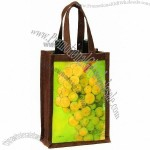 Oenophilia 'Riesling' Reusable Jute Two-Bottle Wine Carrier
