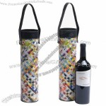 Oenophilia Yesterday's News Woven Recycled Magazine Wine Tube Bottle Tote