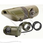 Olive Drab 6-in-1 Survival Whistle Kit