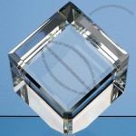 Optic Cube 50mm Crystal