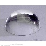 "Optical crystal dome shape magnifier / paperweight, 3 1/4""."