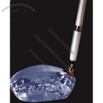 Optical Crystal Golf Driver Silver Pen Set