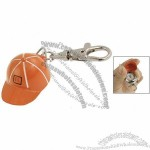 Orange Cap Silver Tone Dial Waterproof Lobster Hook Quartz Watch