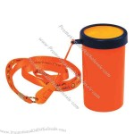 Orange - Super loud noise maker sports horn with neck cord.