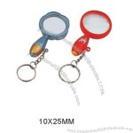 Organic glass magnifier 10x25mm with keychain