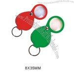 Organic glass magnifier with keychain 8X35MM