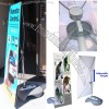 Outdoor Adjustable X Banner Stand w/ Water Base Trade Show Display Banner