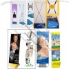 Outdoor X Banner Stands with Water Flooding Anti-Wind Base