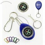 Oval Shape Compass With Swivel Chain And Carabiner