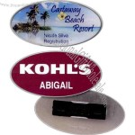 Oval shape name badge