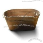 Oval Tin Box without Lid
