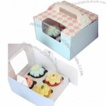Packaging Gift Box, Cake Box with Handle, Transparent Window
