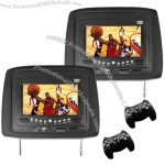 Pair 7 Inch Car Headrest DVD Player with Wireless Game Controller and FM Transmitter