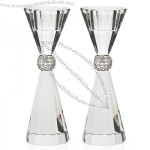 PALAZZO CRYSTAL BLING CANDLE STICK PAIR