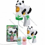 Panda Shaped Auto Bubble Gun with Music and Lights