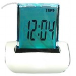 Panel 7 Color Changing LCD Clock Thermometer Date