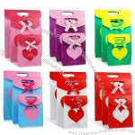 Paper Gift Bag with Velcro and Bows