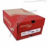 Paper Shoe Box with Corrugated Paper and 4C Printing