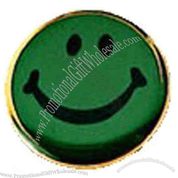 Promotional Paragon - Smiley face lapel pin, green  Gift