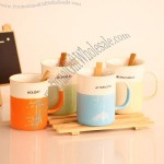 Paris Forest Ceramic Mug with Wooden Spoon