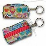 Pastel Multi Color Globi 3D Lenticular Key Chain Purse