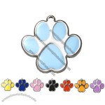 Pawprint Pet ID Tag With Engraving