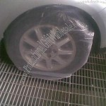 PE disposable plastic car wheel/tire cover, strong and durable
