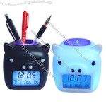 Pen Holder/Coin Bank Alarm Clock