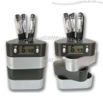 Pen Holder with Time