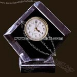 Pentagon clear acrylic award clock