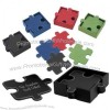 Perfect Fit Personalized Leather Puzzle Coasters Set