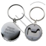 Personalised Bottle Cap Bottle Opener Keyring