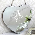 Personalised Heart Shaped Wall Mirror